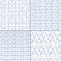 Pastellblau und Weiß Damastmuster