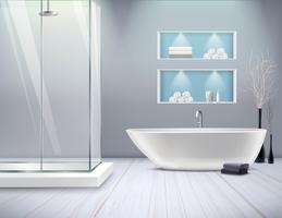 Realistisches Badezimmer Interieur