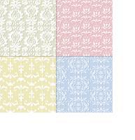 sömlösa pastell damask mönster