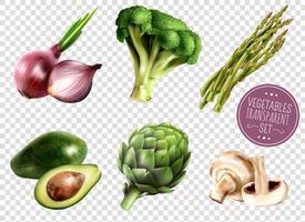 Grönsaker Transparent Set vektor