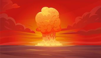 Nukleär Explosionskomposition vektor
