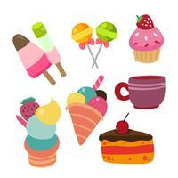 dessert vektor samling design