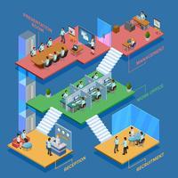 Isometrische Büro-Illustration