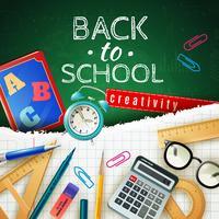 Back to School Design Concept vektor