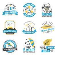 Vindkraft Power Flat Emblems Collection