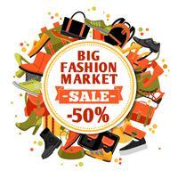 Mode Schuhe Verkauf vektor