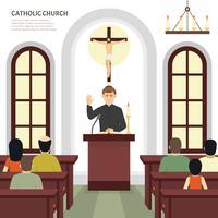 Katolsk kyrkliga präst vektor
