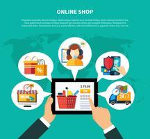 Online butikskomposition vektor