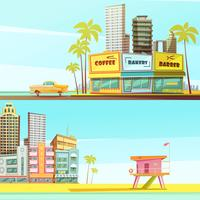 Miami Beach horizontale Banner vektor