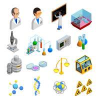 Vetenskap ikoner uppsättning