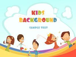 Kinder Hintergrund spielen vektor