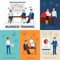 Business Training Konzept Zusammensetzung Banner vektor