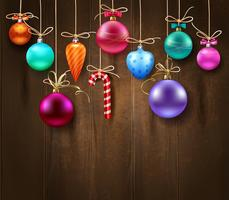 Festlig dekorativ julmall vektor