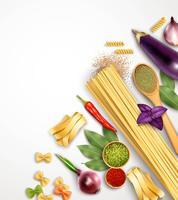 Realistisk pasta mall vektor