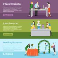 Innenarchitektur-Hochzeits-Dekorations-Fahnen eingestellt