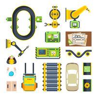 Produktionslinjeelementets ikonuppsättning