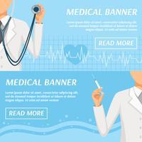 Medicinsk Horisontell Banners Webbdesign