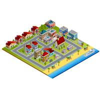 isometrisk stad illustration vektor