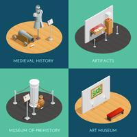 Museum Isometrische 2x2 Kompositionen
