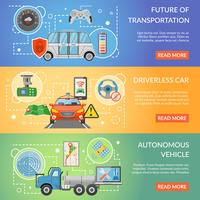 Fahrerlose autonome Fahrzeugfahnen vektor