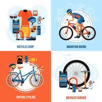 Cykling 2x2 Design Concept vektor