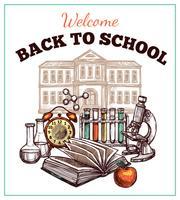 Zurück zu Schule Poster vektor