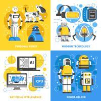 Designkonzept der künstlichen Intelligenz 2x2
