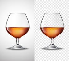 Vinglas med Alkohol Transparenta Banderoller