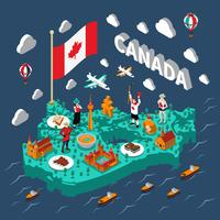 Isometrische Karte von Kanada