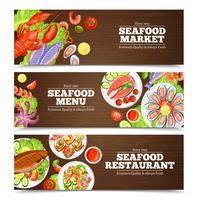 Meeresfrüchte-Banner-Design vektor