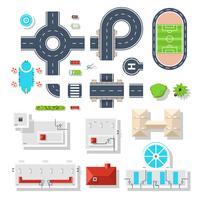 City Element-Ansichtsansicht vektor