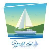yacht club affisch