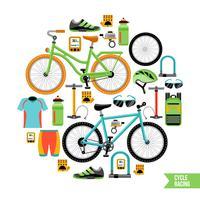 Fahrrad-Design-Konzept vektor