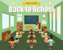 Schulklassenzimmer-Vorlage vektor