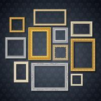 Frames On Dark Wall Set vektor