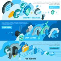 Cloud Services Banners Set