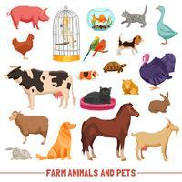 Tiere und Haustiere eingestellt vektor