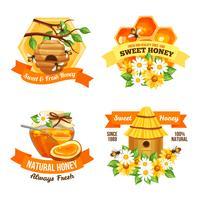 honung reklametiketter vektor