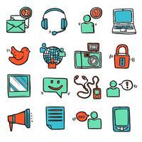 Sociala Media Ikoner Set