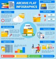 Archiv Infographik Set