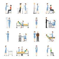 Sjuksköterskor Sjukvård Dekorativa ikoner