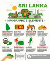 Infographik Sri Lanka vektor