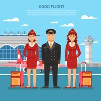 Flygplatsmedarbetareaffisch vektor
