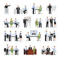 Geschäftskonferenz Icons Set