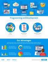 Werbe-Vorlage für Programmierung und App-Entwicklung vektor