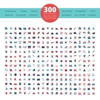 Embleme Logo 300 Flat Icons Collection vektor
