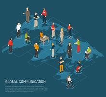 Människor affisch av global kommunikation