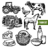 Bio-Bauernhof-Set vektor