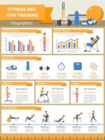 Infografiken für Fitness und Fitnesstraining vektor
