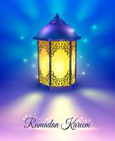 Ramadan farbiges Plakat vektor